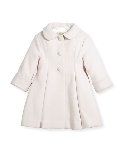 Wool Topper Coat, Pink, Size 12-18 Months