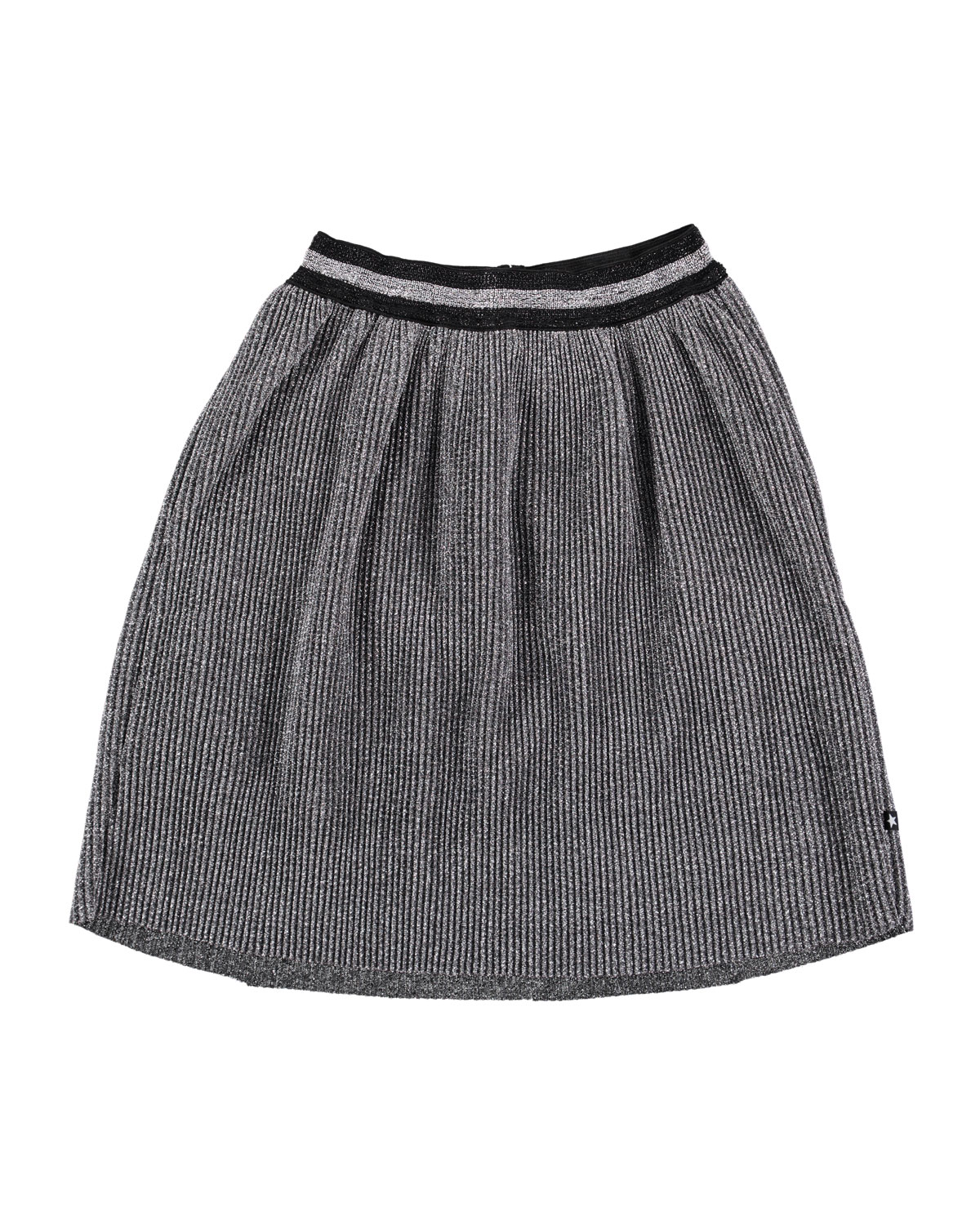 Molo BIRDIE METALLIC PLEATED SKIRT