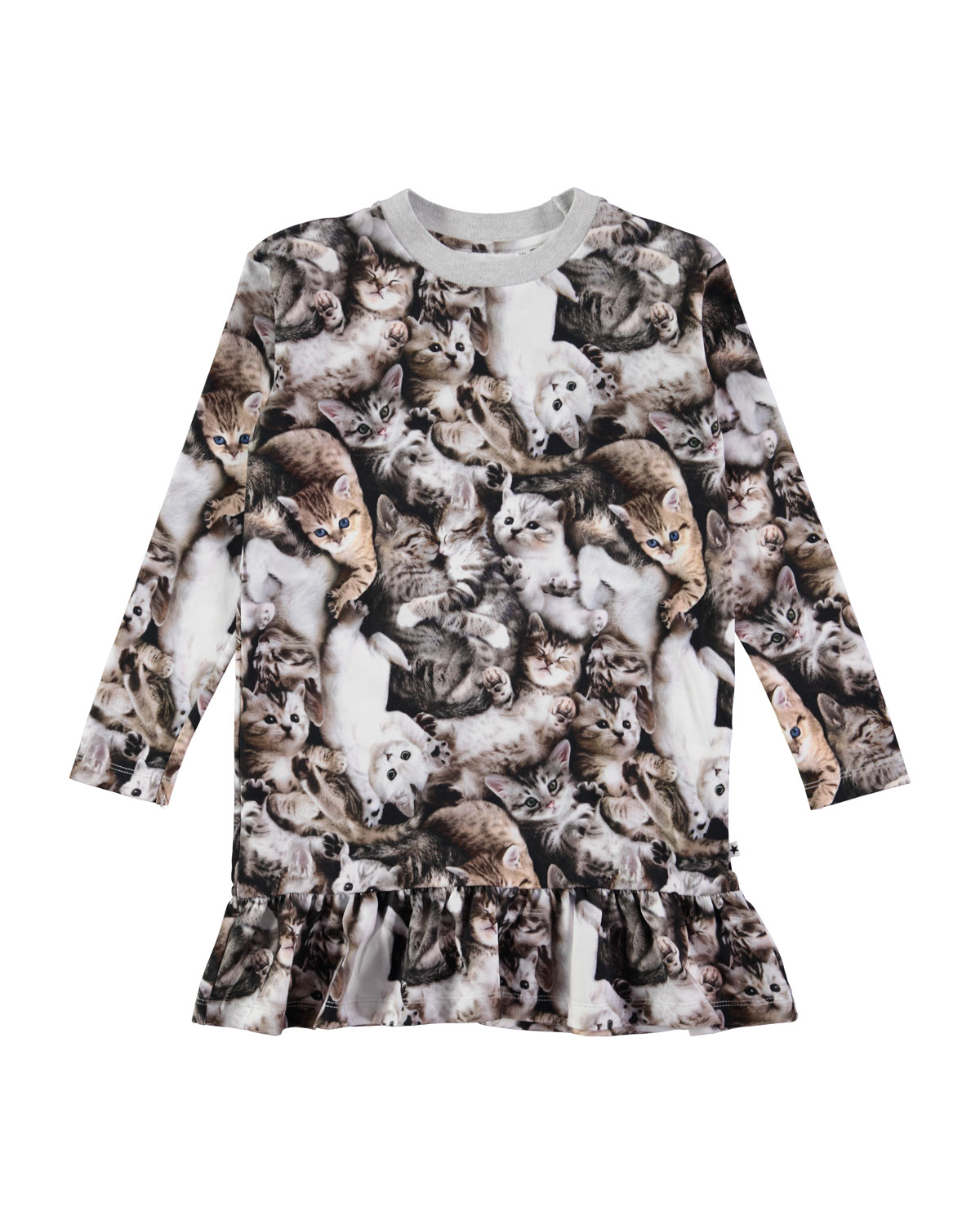 Molo CARAS LONG-SLEEVE KITTEN DRESS