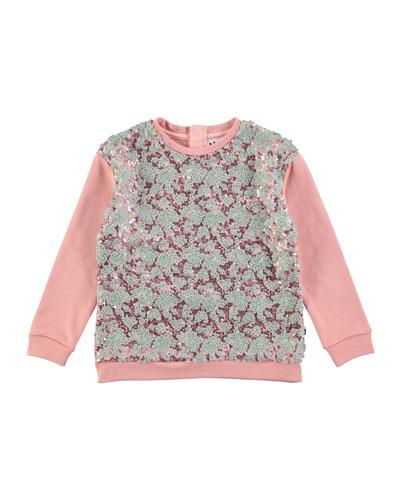 Milla Sequin Sweatshirt, Size 4-12