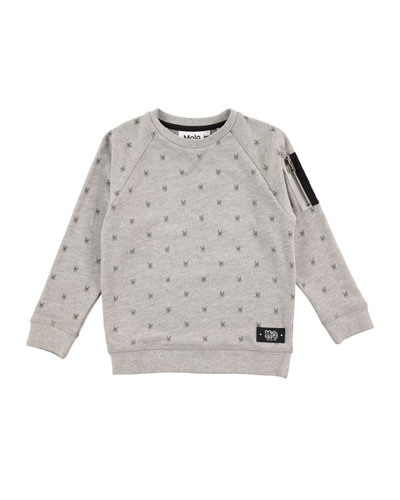 Printed Marx Sweatshirt, Size 4-12