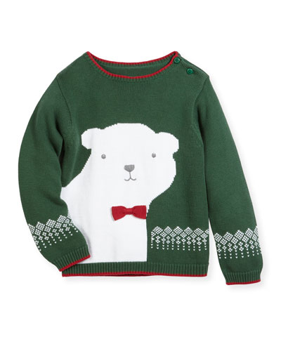 Knit Polar Bear Sweater, Size 2T-7