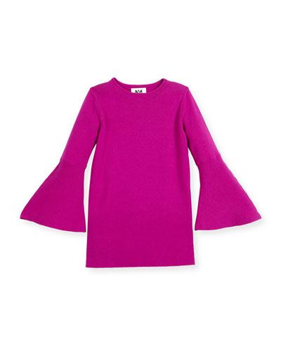 Bell-Sleeve Shift Dress, Size 8-14
