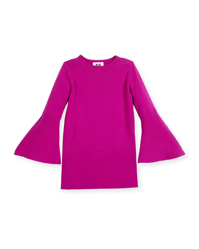 Bell-Sleeve Shift Dress, Size 4-7