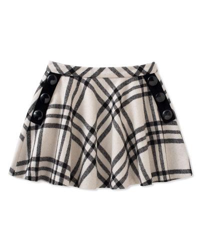 girls' plaid shirt w/ buttons, size 2-6