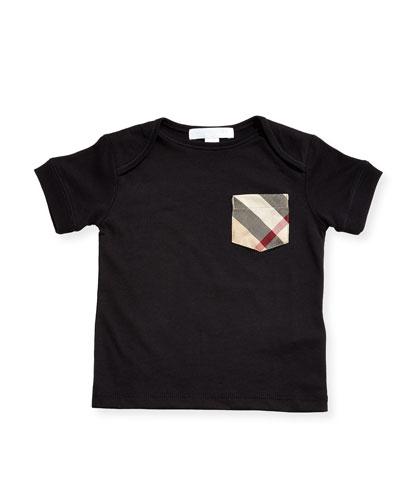 Callum Short-Sleeve Jersey Tee, Black, Size 6M-3Y