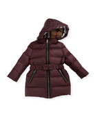 Consillia Hooded Puffer Jacket, Plum, Size 6M-3Y