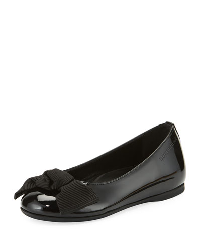 Trixie Patent Leather Ballet Flat, Black, Toddler/Youth Sizes 10T-4Y