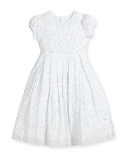 Gala Organdy Lace Dress, Size 7-10