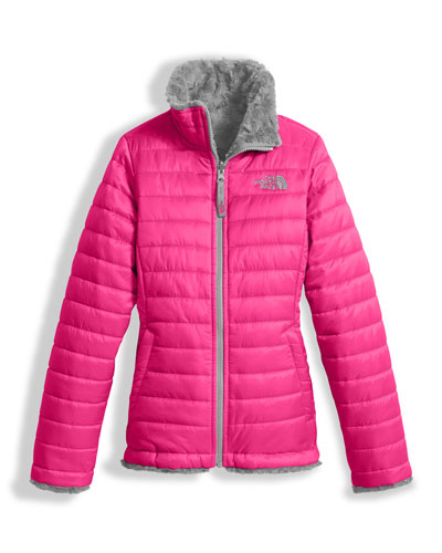 The North Face Girls' Reversible Mossbud Swirl Jacket, Pink, Size XXS - XL