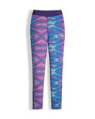 Printed Pulse Stretch Leggings, Purple, Size XXS-XL