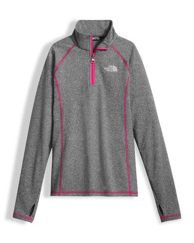 Pulse Stretch Half-Zip Pullover, Gray, Size XXS-XL