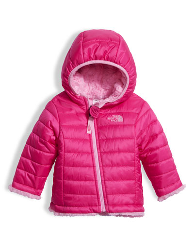 The North Face Girls' Reversible Mossbud Swirl Jacket, Pink, Size 3 - 24 Months