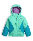 Girls' Kira Triclimate Waterproof Jacket, Green, Size 2-4T