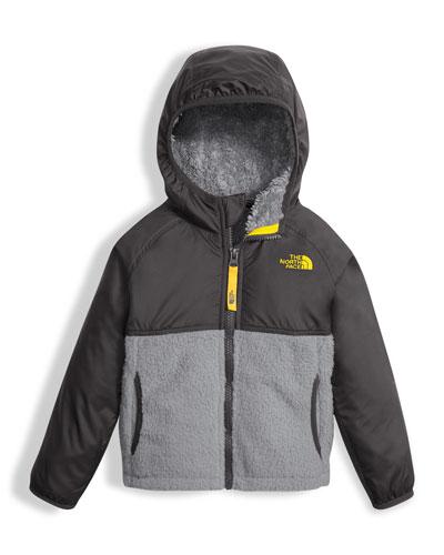 Sherparazo Taffeta & Fleece Hooded Jacket, Gray, Size 2-4T