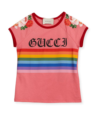 Rainbow Loved Logo T-Shirt, Size 4-12