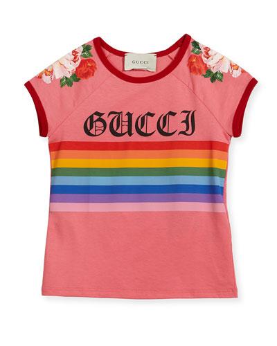 Rainbow Loved Logo T-Shirt, Size 4-12