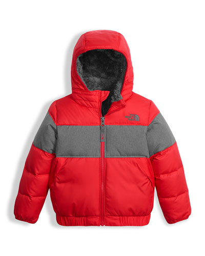 Boys' Moondoggy 2.0 Down Quilted Jacket, Red, Size 2-4T