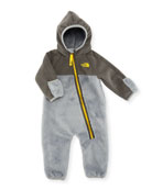 Chimborazo Fleece Hooded One-Piece, Gray, Size 3-24 Months
