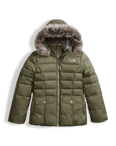 The North Face Gotham 2.0 Down Hooded Jacket w /  Faux - Fur Trim, Green, Size XXS - XL