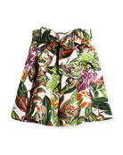 Mikado Jungle Monkeys Bow Skirt, Size 4-14