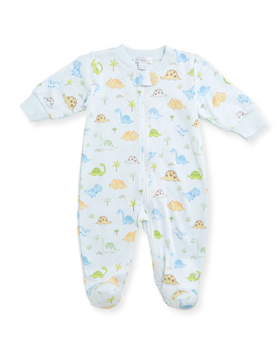 Dino Dudes Zip-Up Footie Pajamas, Size Newborn-9M