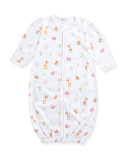 Safari Stroll Convertible Pima Gown, Size Newborn-Small