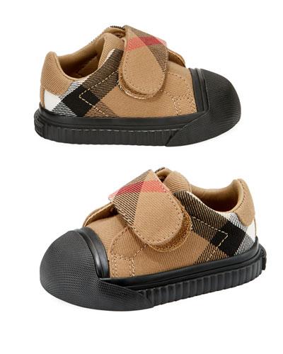 Beech Check Sneaker, Beige/Black, Infant/Toddler Sizes 3M-5T