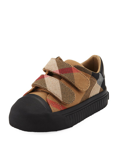 Belside Check Sneaker, Beige/Black, Toddler Sizes 7-10