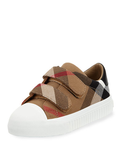 Belside Check Grip-Strap Sneaker, Toddler/Youth Sizes 10T-4Y
