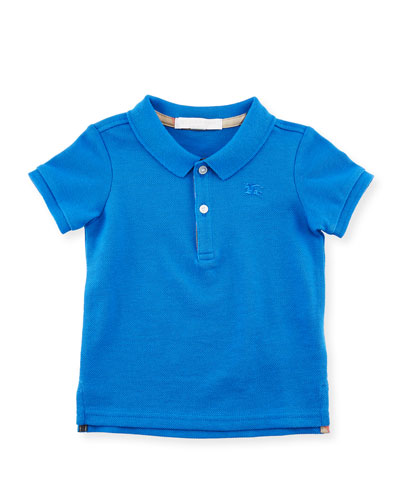 Palmer Short-Sleeve Polo Shirt, Blue, Size 6M-3Y