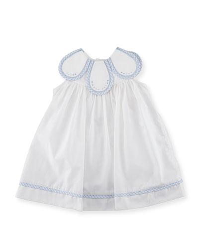 Petal Dress w/ Check Trim, Size 3-24 Months