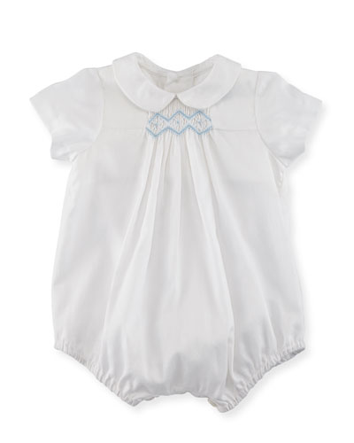 Bubble Playsuit w/ Embroidery, Size 3-9 Months