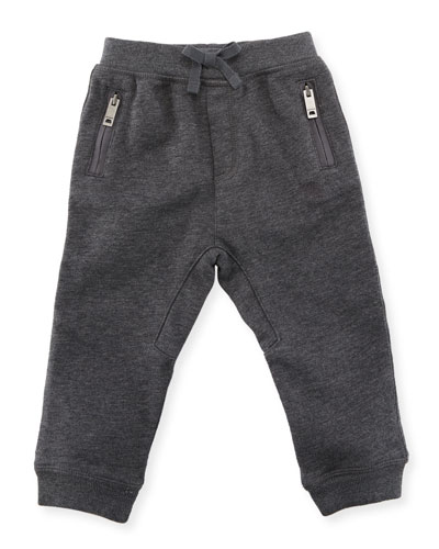 Phill Cotton Track Pants, Charcoal, Size 6M-3Y