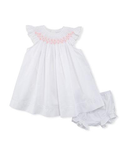 Smocked Bishop Dress w/ Bloomers, Size Newborn-9M