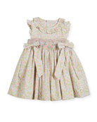 Ruffle Floral Smocked Dress, Size 6-18 Months