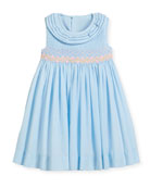 Smock Dress w/ Ruffle Neck, Size 2-4T