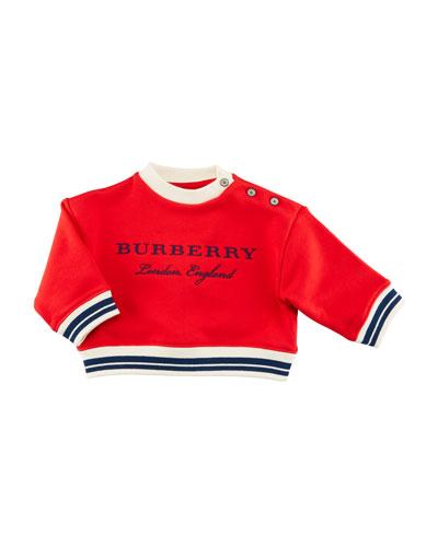 Emillia Logo Sweatshirt, Red, Size 6M-3