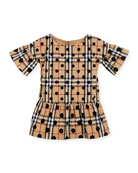 Anabella Check & Polka-Dot Dress, Size 4-14