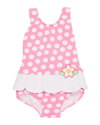 PetalSkirt PolkaDot OnePiece Swimsuit Size 24