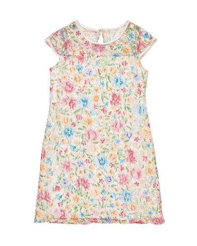 Floral Lace Dress, Size 7-14