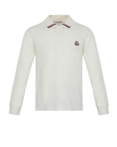 Maglia Long-Sleeve Polo, Size 8-14