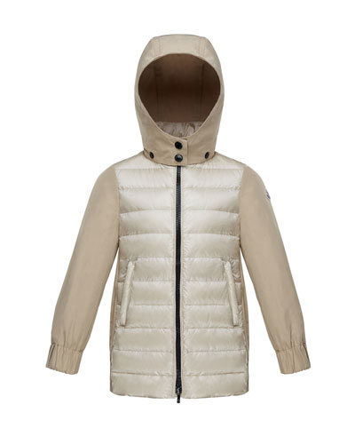 Cleofen Twill/Down Combination Coat, Size 4-6