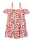 Eden Cherry-Print Coverup Dress, Size 8-14