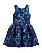Adele Metallic Brocade Floral Dress, Size 4-6X