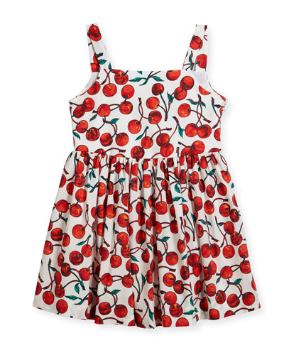 Emaline Cherry-Print Dress, Size 4-7