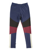 Nikia Sporty Colorblock Leggings, Size 4-14