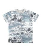 Ralphie Cloud Figures Printed Short-Sleeve T-Shirt, Size 4-10