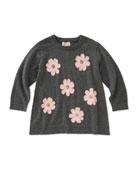 swing flower applique sweater, size 2-6