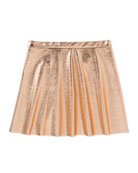 metallic skirt, pink, size 7-14